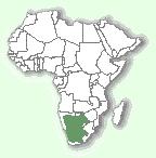 Чорнонога кішка: мапа поширення