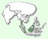 Мапа територій суматранської кішки